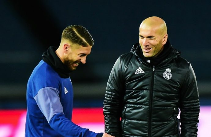 Conversacion entre Zidane y Ramos en medio del entrenamiento