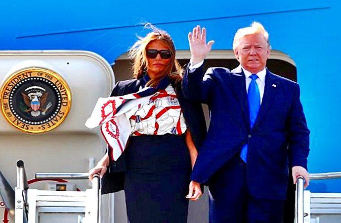 Donald y Melania Trump en el Palacio de Buckinghan