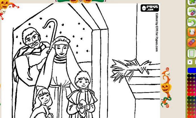 Actividades navideñas para los niños: figuras del pesebre para colorear