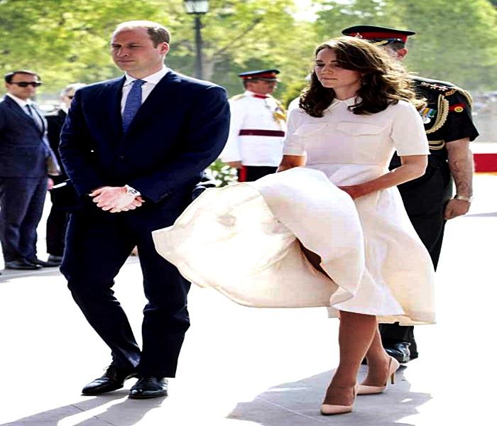 La Duquesa de Cambridge le ha tocado atrapar sus camisones