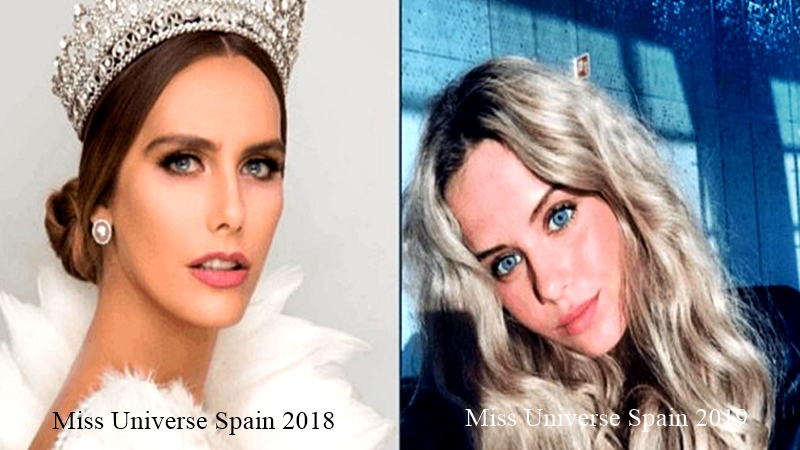 Miss Universe Spain 2018 y 2019 respectivamente
