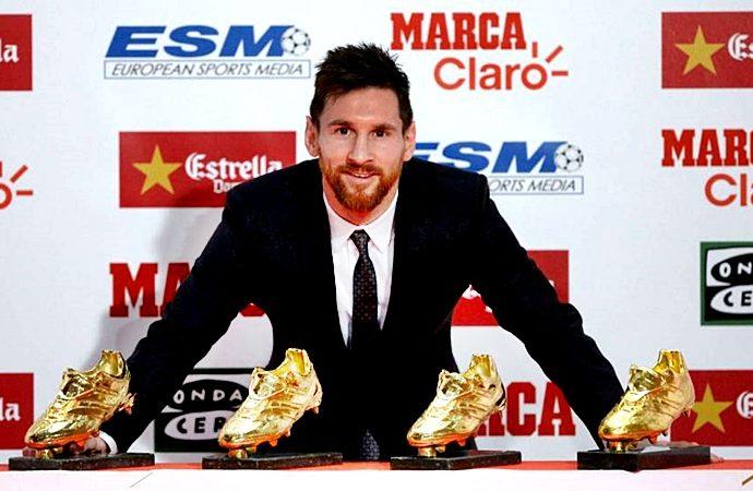 Messi el Capitán del Barcelona obtiene su sexta Bota de Oro