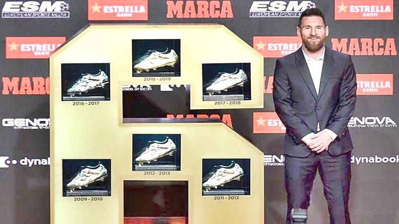 El astro del futbol argentino Lionel Messi con nueva Bota de Oro