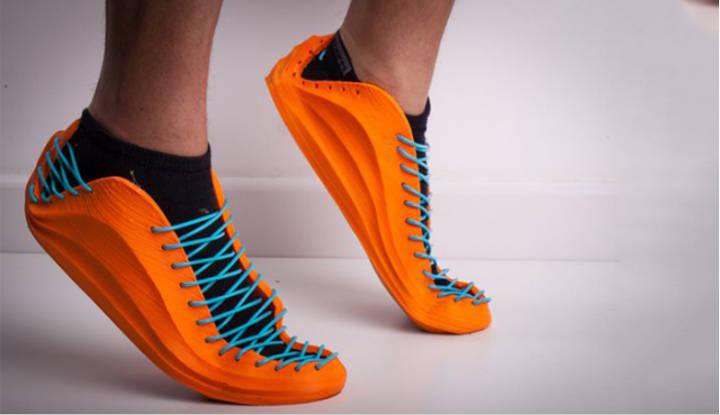 Zapatillas impresas en 3D creadas con el filamento Filaflex