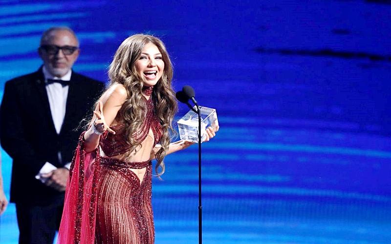 Thalía también recibió un Latin Grammy
