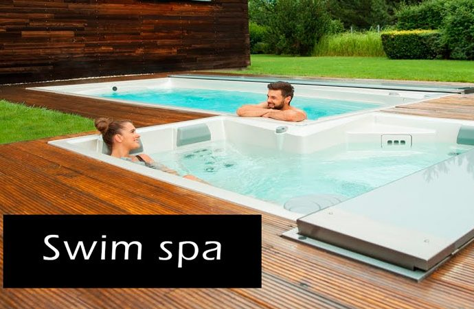 Jacuzzi grande Swin spa mini piscina agua salada para nadar