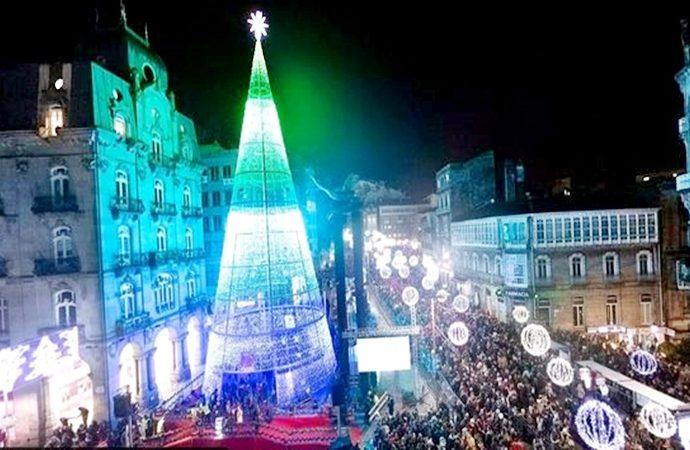 Vigo se convirtió esta Navidad 2019 en todo un espectáculo mundial de luces