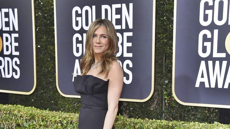 La Aniston fue seguida por las cámaras este domingo 5 de enero en los Premios Globos de Oro