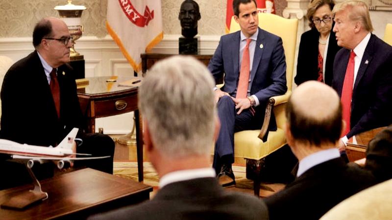 Trump y Guaidó juntos sostuvieron el primer encuentro