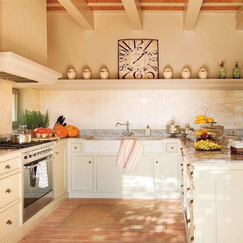El reloj en la cocina útil y decorativo