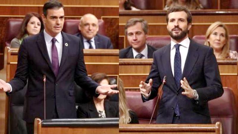 Sánchez de España esquivó la pregunta de Casado, respondiendo a otra cosa