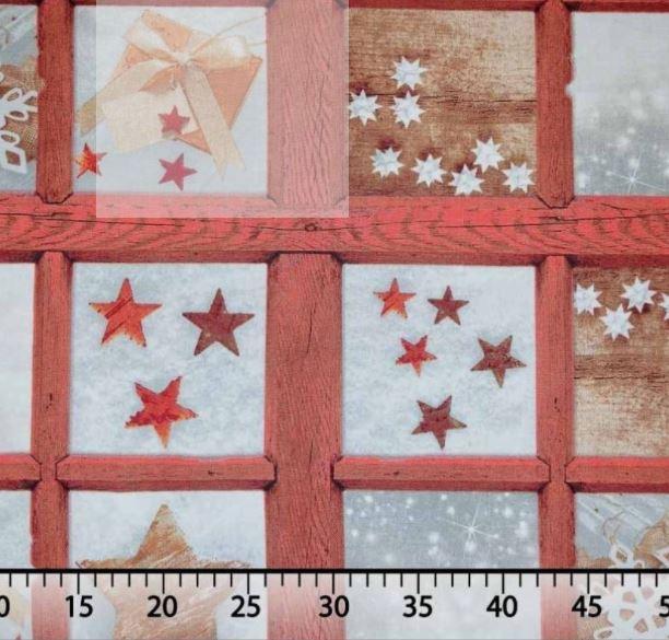 Telas navideñas algodón estrellas