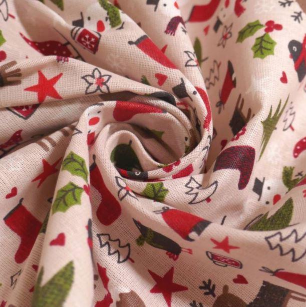 Telas navideñas algodón arbolitos