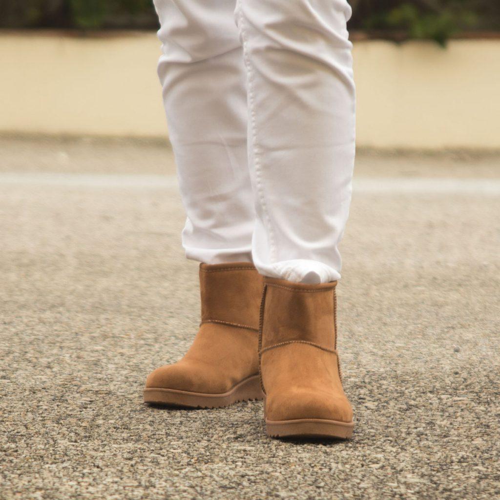 botines marron con mini suela.