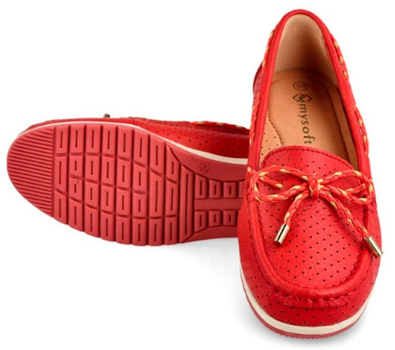 mocasines nautico rojos